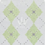 Artistic Pictures Pattern Building Material of Silver Glass Mosaic