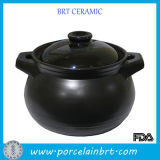 Wholesale Black Kitchenware Two Handle Saucepan with Lid