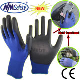 Nmsafety 18g Super Thin PU Coated Touch Screen Work Glove