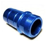 Precision Machining Aluminum Blue Color Anodized Tube Connector