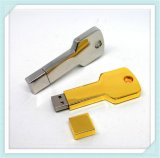 Colorful Metal Key Shape USB Flash Drive with Cap (EP043)