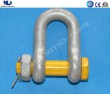 Hot Dipped Galv. G2150 U. S Type Drop Forged Dee Shackle