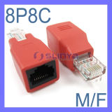 Network Male to Female RJ45 Adapter Extension Connector Straight Thru Connection 8p8c Adapter