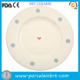 Good Sale Simple Round Dinner Serving Plate
