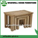 Oak Wood Nesting Table Set