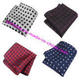 Wholesale Classical Small Check Polyester Silk Men′s Handkerchief