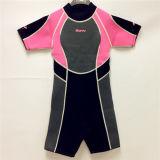 Short Neoprene Surfing Wetsuit with Nylon Fabric (HX15S09)