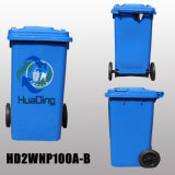 Wholesale 100L Outdoor Usage Eco-Friendly Dustbin with 2 Wheels