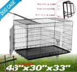 "48"" 3 Door Folding Pet Dog Cage Crate Portable with Free Divid Large Size (HD0854) Dog Cage Crate"