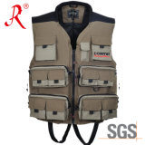 Fishing Vest with Ykk Zipper and Ce Certificate Approval (QF-1907)