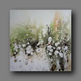 Flowing Color on Oil Painting for Home Decoration