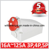 IP67 125A 3p+N+E Industrial Wall Mounted Socket Outlet