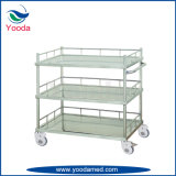 Three Layers Medical Stainless Steel Treatment Trolley