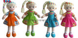 """11.8""""Wholesale Plush Girl 3D Doll Toy as First Gift for Baby BOS-1107"""