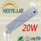 Outdoor LED Solar Bridgelux Street Lighting 20W