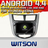Witson Android 4.4 System Car DVD for Hyundai Solaris (W2-A7025)