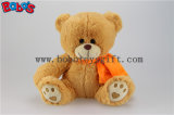 Custom Plush Teddy Bear with Orange Scarf and Embroidery Paw