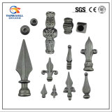 Forged Weldable Wrought Iron Fence Finials and Railheads