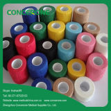 Colored Medical Non Woven Cohesive Elastic Bandage