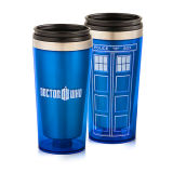 Travel Mug Auto Cup Made of Stainless Steel with Plastic Lid