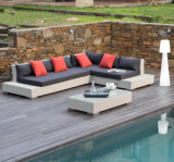 L Shape Outdoor Leisure Sofa Garden Furniture Rattan Sofa (S232)