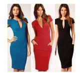 Latest Fashionsexy Bodycon V-Neck Women Office Dress