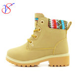 Family Fitted Kids Children Injection Safety Working Work Boots Shoes for Outdoor Job (SVWK-1609-044 LIGHT TAN)