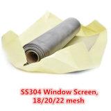 18/20/22 Mesh, Anti-Inspect, Mosquito, Aluminum/Stainless Steel Window Screen