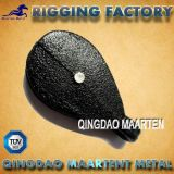 Casting Greenhouse Single Round Fixed Pulley Black Spray
