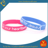 Wholesale Fashion Silicone Wristbands for Gift with Printed Logo