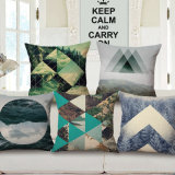 Eco-Friendly Cotton Linen Printed Cushion Cover Without Stuffing (35C0154)