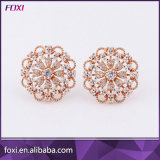 New Fashion Plated Gemstone Jewelry Stud Earrings with Wholesale Price