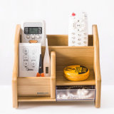 Bamboo Color 1 Drawer All Purpose Office Desk Organizer