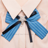 Newest Elegant Woman Brooches Rhinestones Ribbon Bowknot Tassel Link Beauty Head Corsage Fashion Jewelry