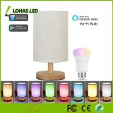 Multicolored Smart LED Table Lamps Bulb A19 60W Equivalent WiFi Farbic Table Lamp