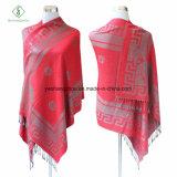 2017 Hot Sale Lady Fashion Pashmina Rose Wall Jacquard Scarf Shawl