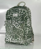 Fashion Leopard Fabric School Backpack Bag