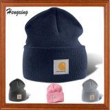 Custom Warm Acrylic Beanie Hats with Patch
