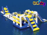 Inflatable Water Float with Triangle Slide for Water Park