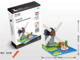 317PCS Small Plastic Toy Dutch Windmill Model Diamond Building Block