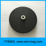 Strong Force Holding Rubber Mount Cup Magnet for Delicate Surface
