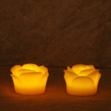 Rose Flower Real Wax LED Candle