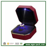 Luxury High Quality Red LED Metal Jewellery Box for Gift