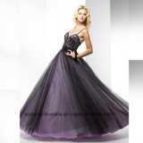 Women Lace Sleeveless Backless Sexy Tulle Evening Long Prom Dress