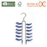 Eisho Best Sale Customized Navy-Blue PVC Metal Hanger