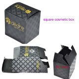 Square Cosmetic Box Packaging, Foldable Cosmetic Boxes with UV Coating