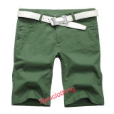 Men Casual Fashion Solid Color Simple Green Leisure Shorts (S-1512)