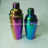 550ml & 750ml Rainbow Color Drink Shaker Stainless Steel Martini Cocktail Bar Tools Wine Mixer Shakers Set