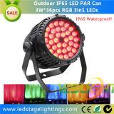 Hot Sale LED Stage PAR Light 36PCS*3W Tri LEDs for Wedding Decoration