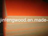 100% Poplar 1220*2440mm Melamine MDF, Orange Color, Embossment Surface
